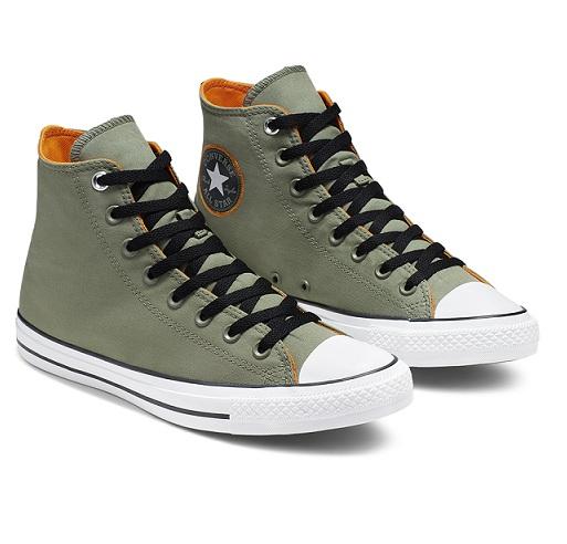 נעלי אולסטאר ירוק זית גברים Converse Space Explorer