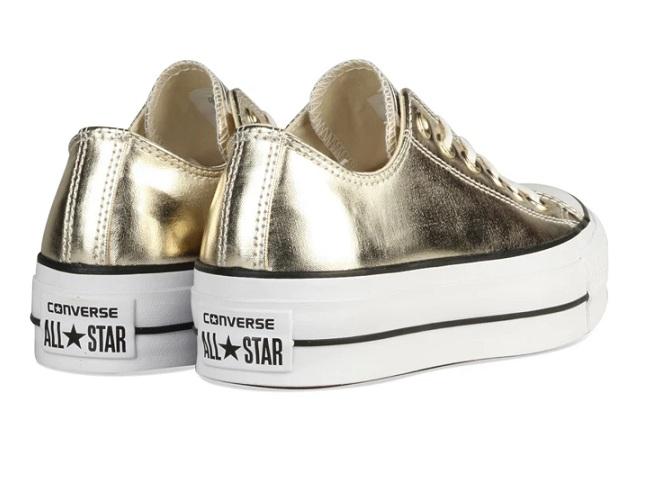 נעלי אולסטאר פלטפורמה זהב נשים Converse Metal Platform Gold - תמונה 3