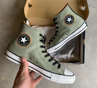 נעלי אולסטאר ירוק חאקי גברים Converse Space Explorer