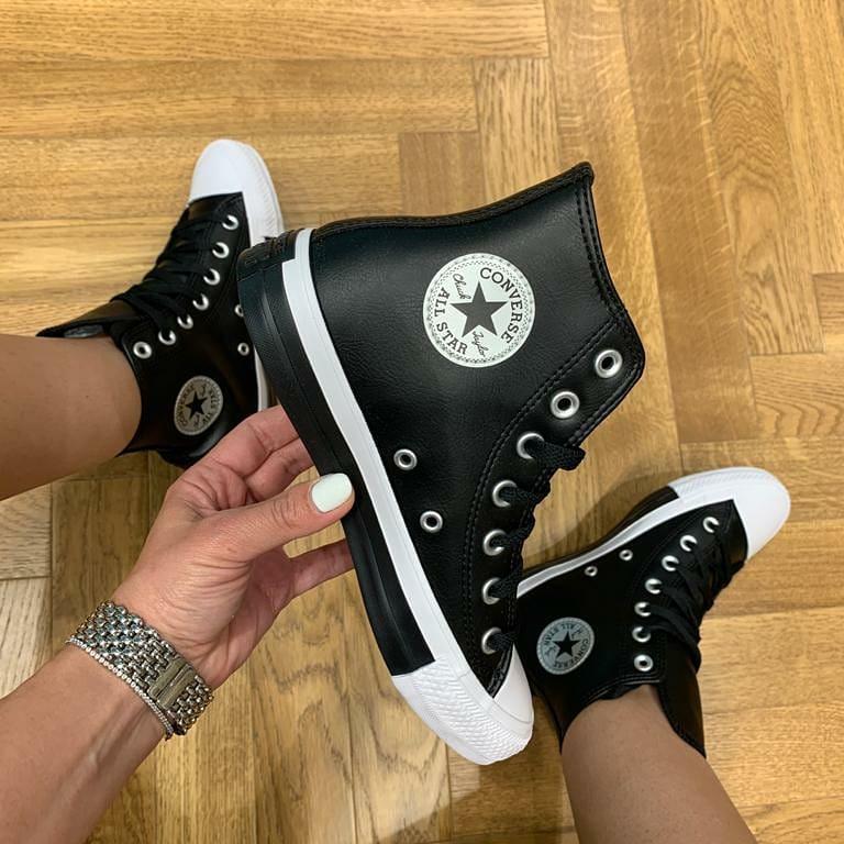 נעלי אולסטאר דמוי עור נשים Converse Anodized Metals