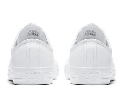 נעלי אולסטאר עור לבן נשים גברים Converse Leather White Mono - תמונה 4