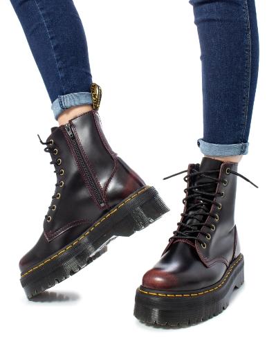 נעלי דוקטור מרטינס פלטפורמה בורדו נשים Doctor Martens Jadon Platform