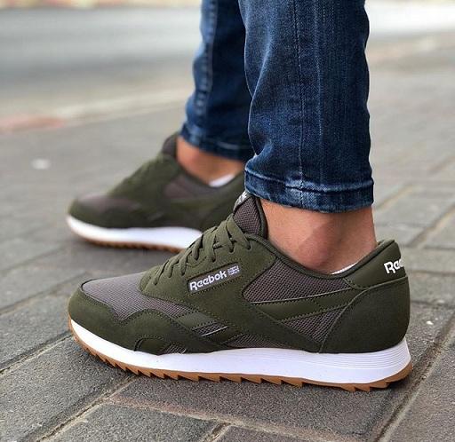 נעלי ריבוק אופנה גברים Reebok Classic Nylon Ripple MU - תמונה 2