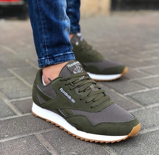 נעלי ריבוק אופנה גברים Reebok Classic Nylon Ripple MU - תמונה 3