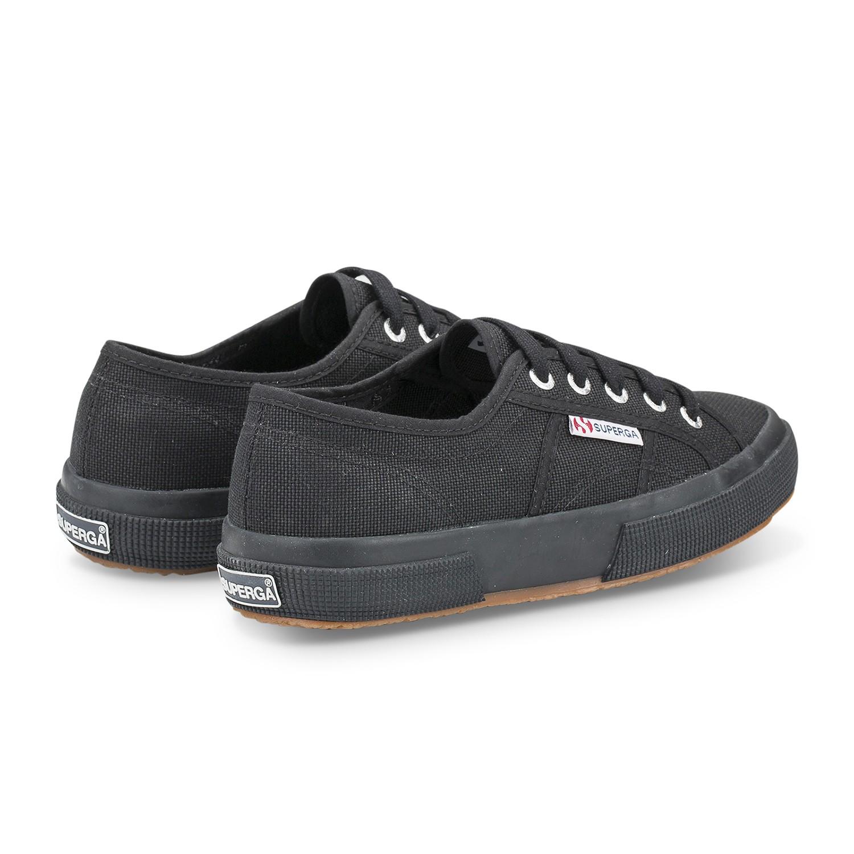 נעלי סופרגה שחור חלק נשים גברים Superga Full Black