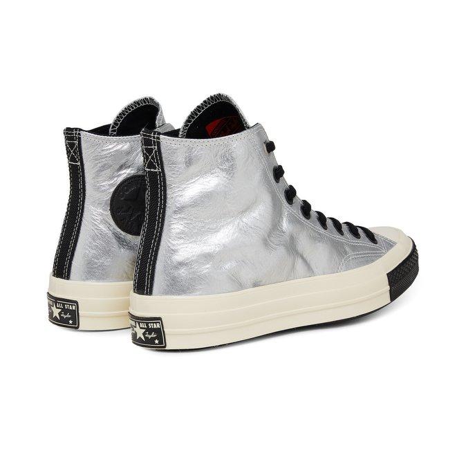 נעלי אולסטאר כסף עור שנות ה 70 Converse Chuck