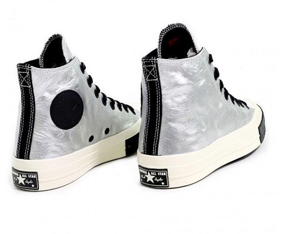 נעלי אולסטאר כסף עור שנות ה 70 Converse Chuck Flight School  - תמונה 2
