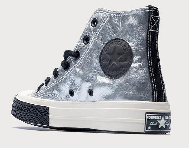 נעלי אולסטאר כסף עור שנות ה 70 Converse Chuck Flight School  - תמונה 4