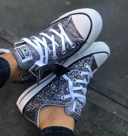 נעלי אולסטאר מנצנץ נצנצים נשים Converse Galaxy Dust - תמונה 2