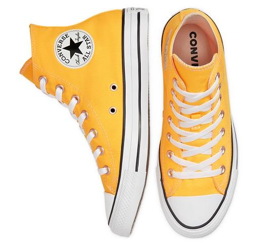 נעלי אולסטאר כתום זוהר נשים Converse Laser Orange