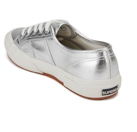 נעלי סופרגה כסף מטאלי נשים Superga Metallic Grey Silver