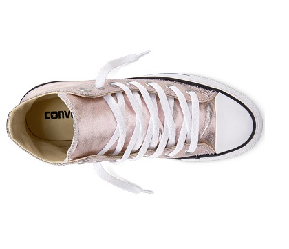 נעלי אולסטאר ילדות ורוד מטאלי Converse Rose Quartz