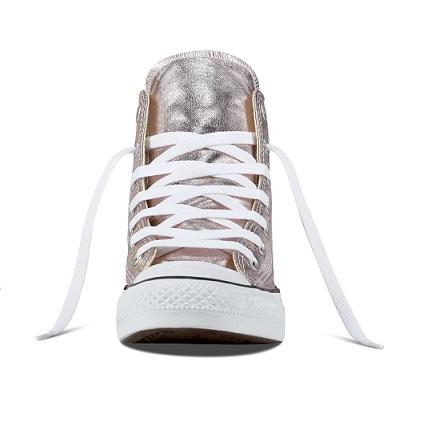 נעלי אולסטאר ילדות ורוד מטאלי Converse Rose Quartz - תמונה 3