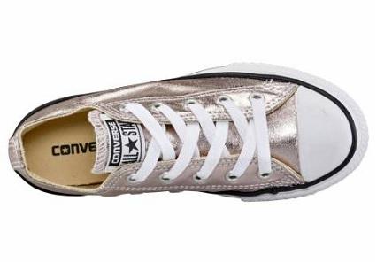 נעלי אולסטאר ילדות ורוד מטאלי Converse Rose Quartz - תמונה 2