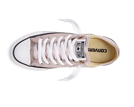 נעלי אולסטאר ילדות ורוד מטאלי Converse Rose Quartz - תמונה 4