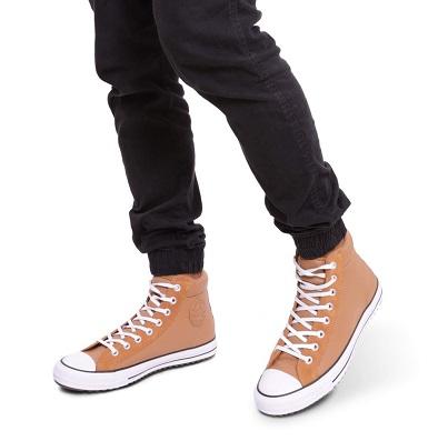 נעלי אולסטאר מגף עור גברים Converse Boot Pc - תמונה 5