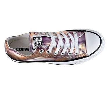 נעלי אולסטאר ורוד מטאלי נשים Converse Dusk Pink Metalic  - תמונה 4