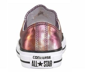 נעלי אולסטאר ורוד מטאלי נשים Converse Dusk Pink Metalic