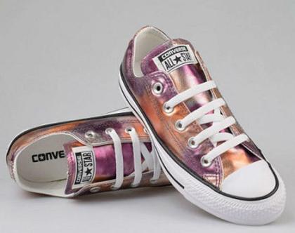 נעלי אולסטאר ורוד מטאלי נשים Converse Pink Metal