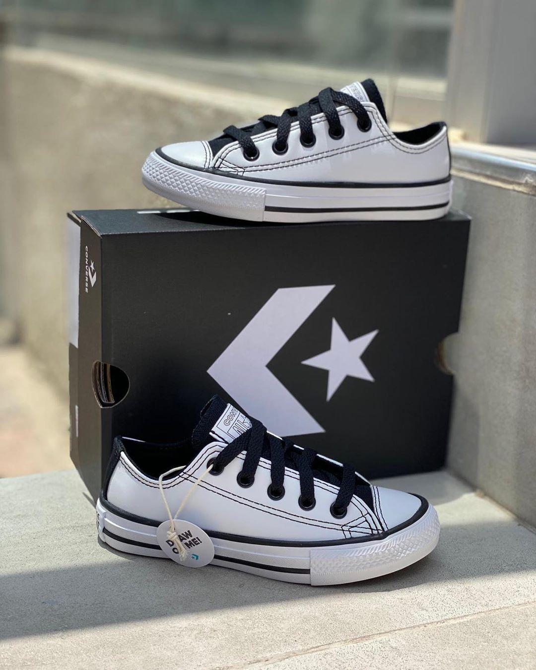 נעלי אולסטאר ילדים Converse White Black