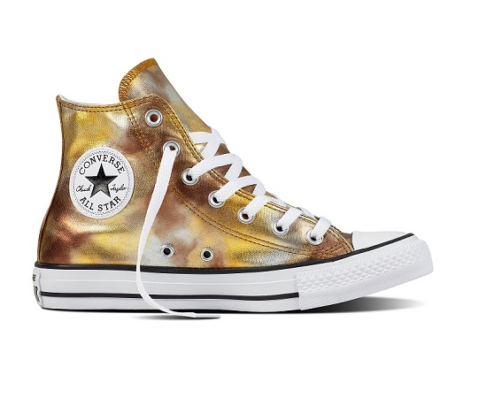 נעלי אולסטאר זהב כסף מטאלי Converse Silver Gold Metalic