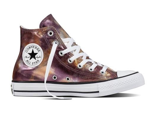 נעלי אולסטאר ורוד מטאלי Converse Dusk Pink Metalic