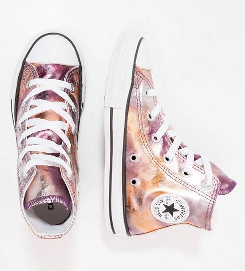 נעלי אולסטאר ורוד מטאלי Converse Dusk Pink Metalic - תמונה 2