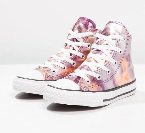 נעלי אולסטאר ורוד מטאלי Converse Dusk Pink Metalic - תמונה 3