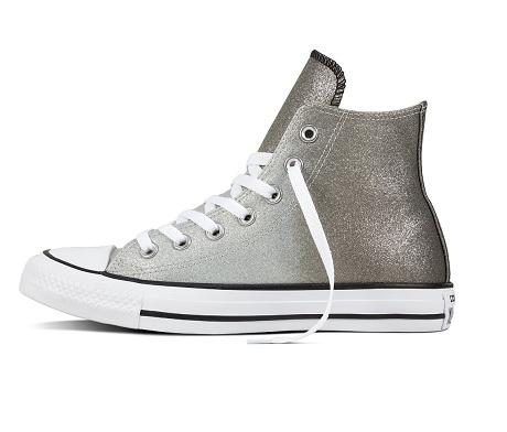 נעלי אולסטאר כסף מטאלי נשים Converse Ombre Metallic - תמונה 2