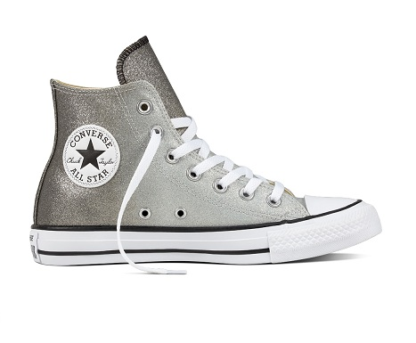 נעלי אולסטאר כסף מטאלי נשים Converse Ombre Metallic - תמונה 5