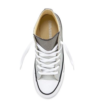 נעלי אולסטאר כסף מטאלי נשים Converse Ombre Metallic - תמונה 4