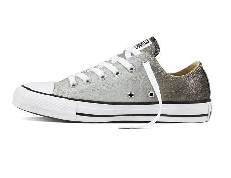 נעלי אולסטאר כסף מטאלי נשים Converse Ombre Metallic