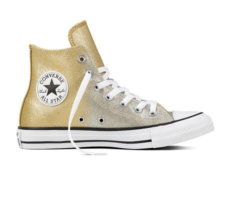 נעלי אולסטאר זהב מטאלי נשים Converse Ombre Metallic