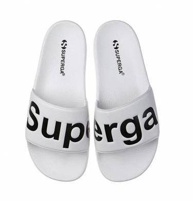כפכף סופרגה נשים לבן SUPERGA SLIDE