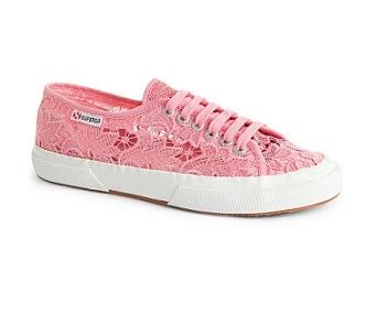 נעלי סופרגה תחרה ורוד Superga Macramew Pink