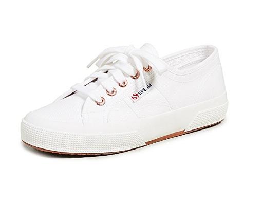 נעלי סופרגה לבן זהב נשים Superga White Gold