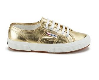נעלי סופרגה זהב מטאלי נשים Superga Metallic Gold