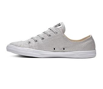נעלי אולסטאר כסף בובה נשים Converse Dainty Silver