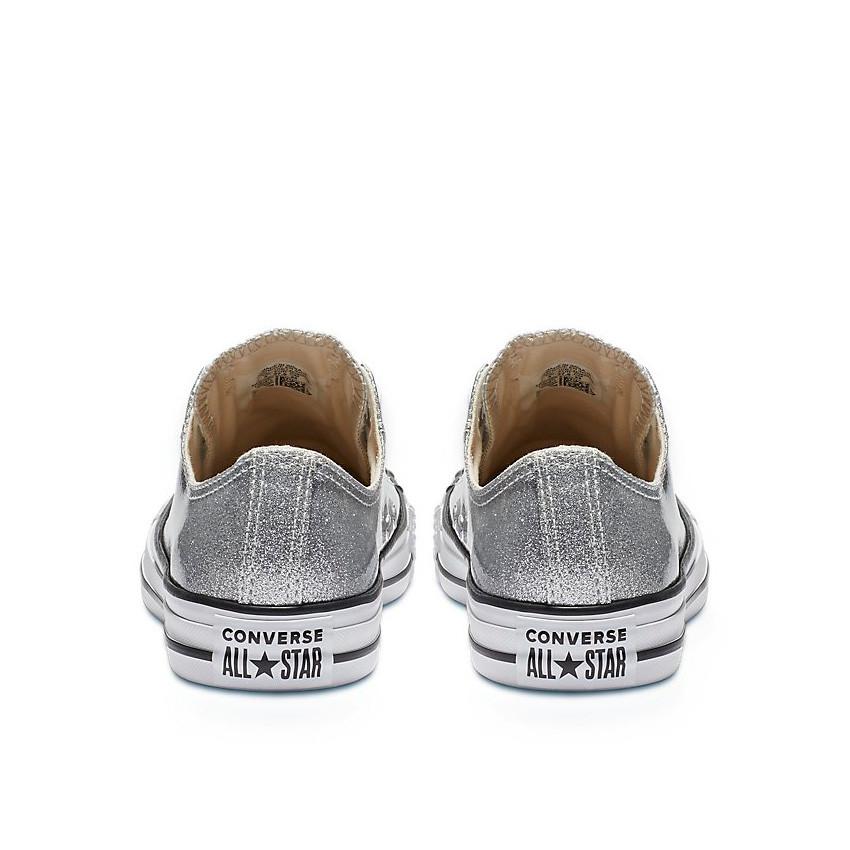 נעלי אולסטאר כסף מטאלי נשים Converse Silver Glitter