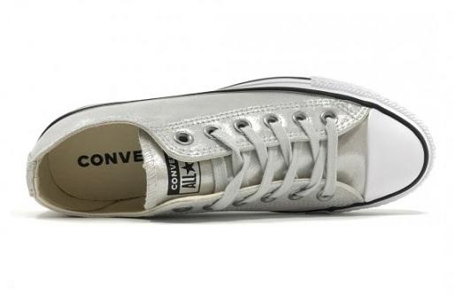 נעלי אולסטאר כסף מטאלי נשים Converse Silver
