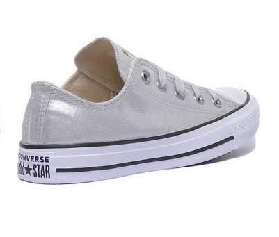 נעלי אולסטאר כסף מטאלי נשים Converse Silver - תמונה 2