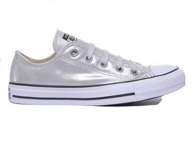 נעלי אולסטאר כסף מטאלי נשים Converse Silver - תמונה 1