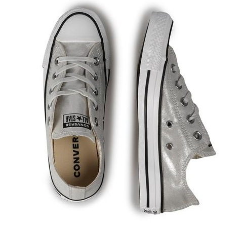 נעלי אולסטאר כסף מטאלי נשים Converse Silver - תמונה 3