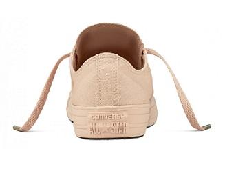 נעלי אולסטאר פודרה חלק נשים Converse Particle Beige