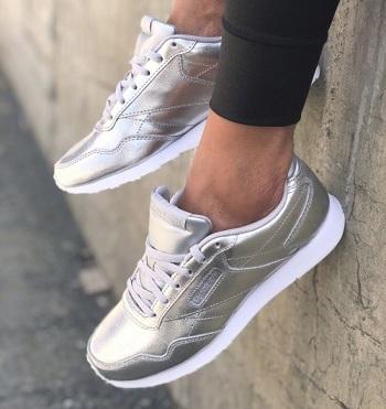 נעלי ריבוק כסף מטאלי נשים Reebok Royal Glide LX