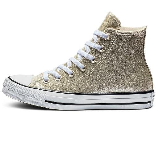 נעלי אולסטאר זהב מטאלי מנצנץ נשים Converse Glitter Gold