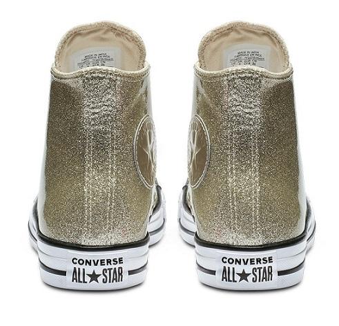 נעלי אולסטאר זהב מטאלי מנצנץ נשים Converse Glitter Gold - תמונה 3