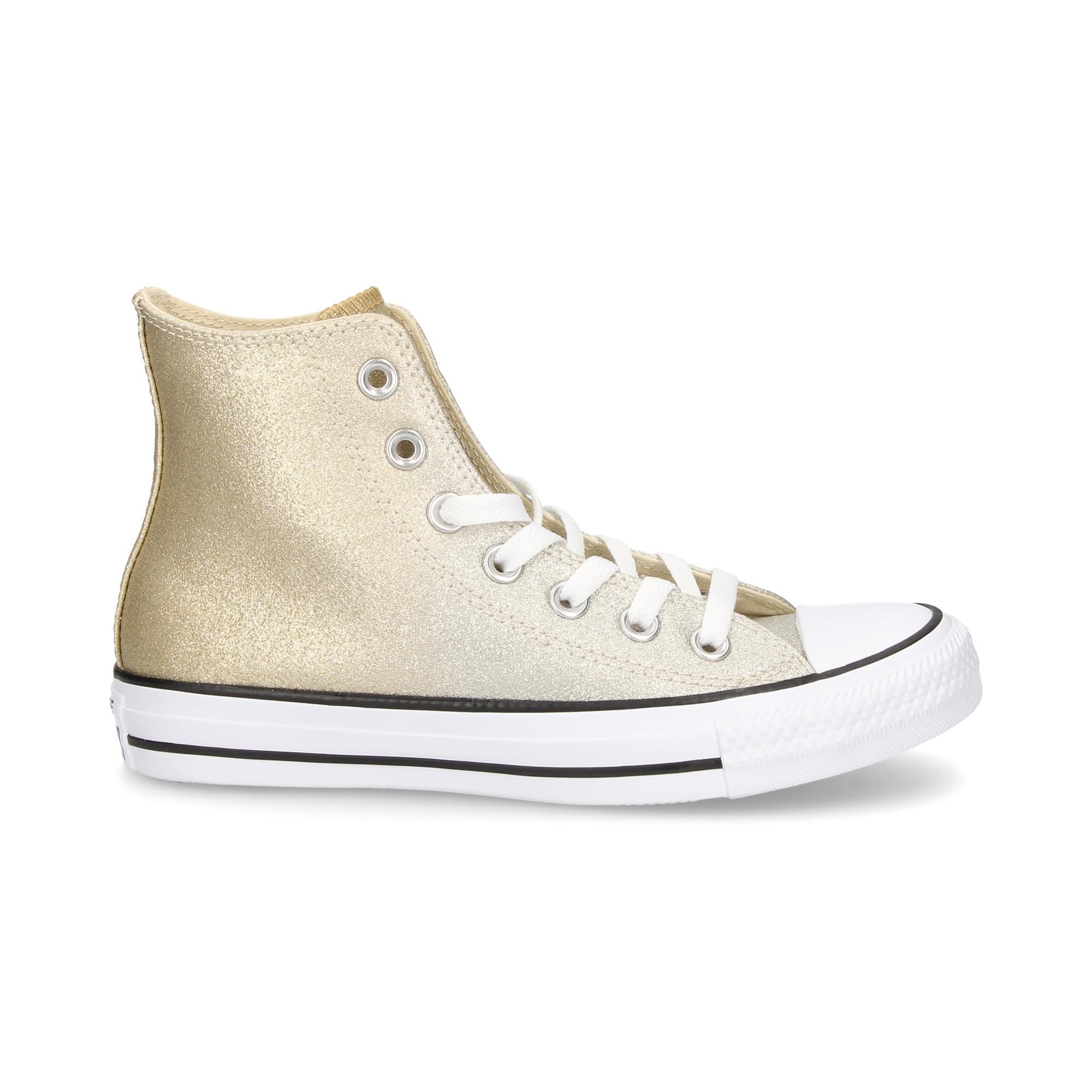 נעלי אולסטאר זהב מטאלי מנצנץ נשים Converse Ombre Silver Gold