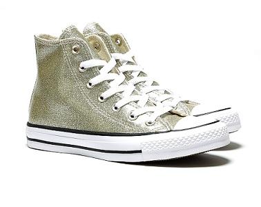 נעלי אולסטאר זהב מנצנץ נשים Converse Glitter Gold