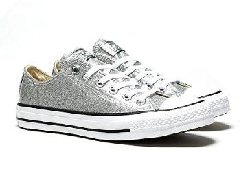 נעלי אולסטאר כסף מנצנץ Converse Glitter Silver
